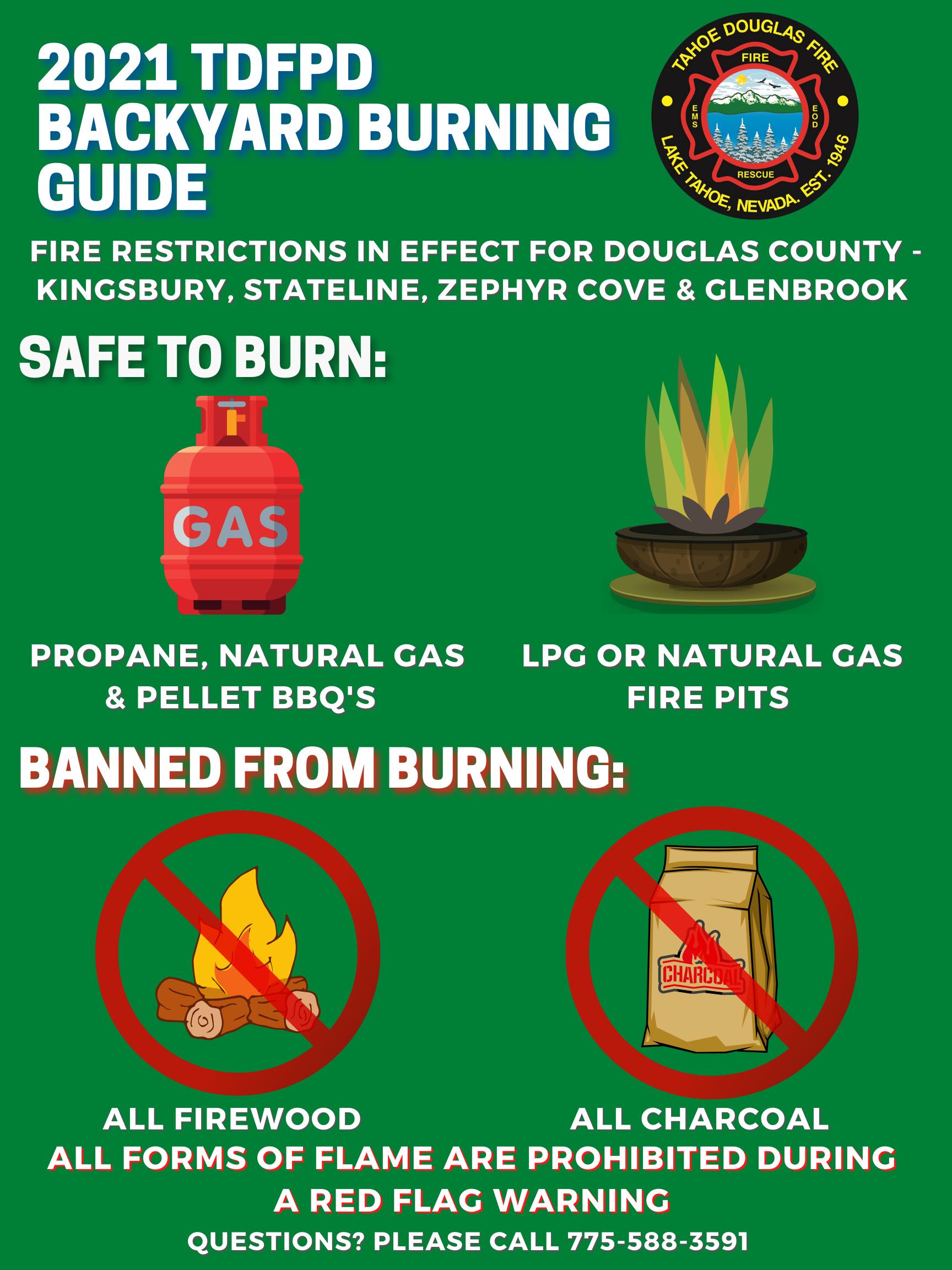 TDFPD District Burn Bans in Effect
