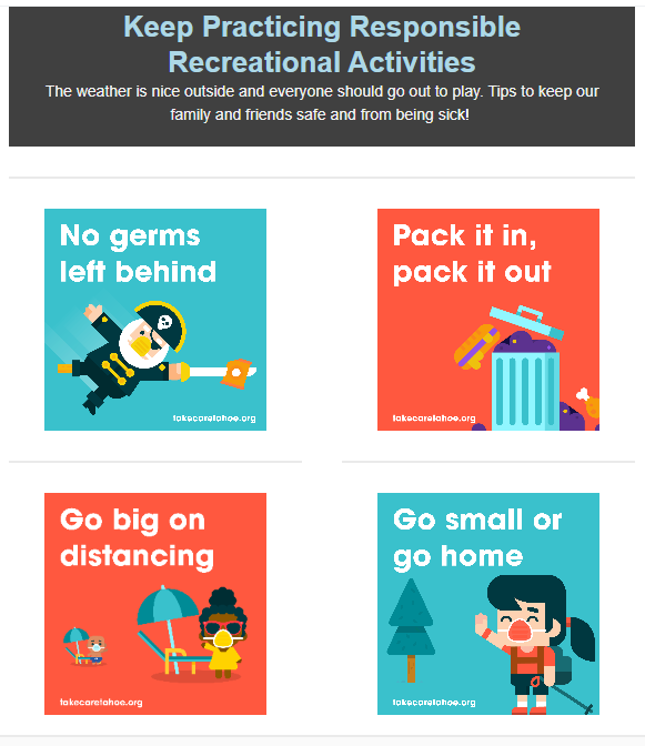 Keep Practicing Responsible Recreational Activities
