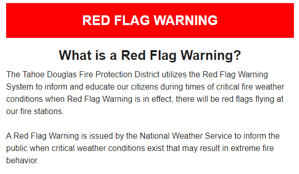 Red Flag Warning Top