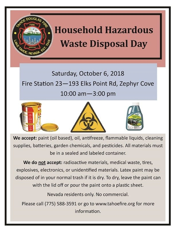 HOUSEHOLD HAZARDOUS WASTE DISPOSAL DAY