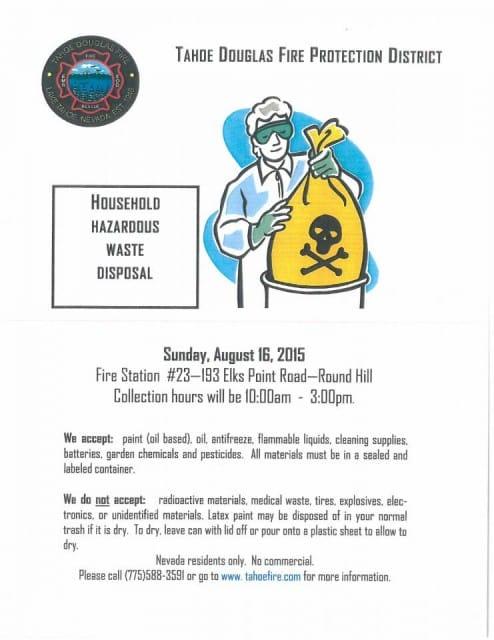 Household Hazardous Waste Disposal Day