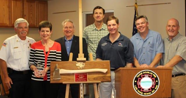 Fire Board Trustee Honored