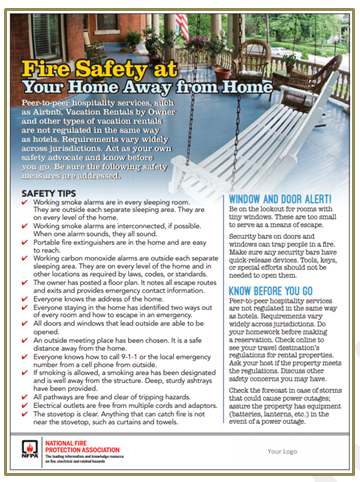 fire safety at your home away from home